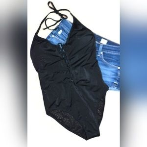 NWT Express One-Piece Lace Up Swimsuit